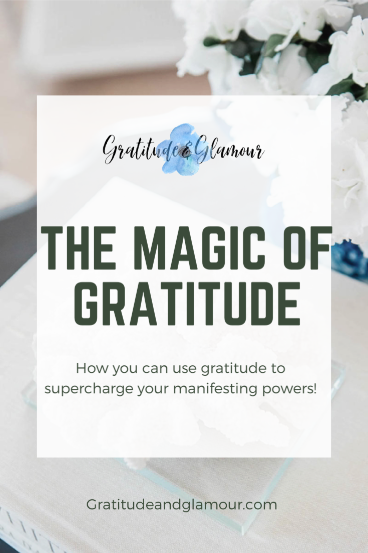 "Title of ""The Magic of Gratitude"" subtitle of ""How you can use gratitude to supercharge your manifesting powers!"""