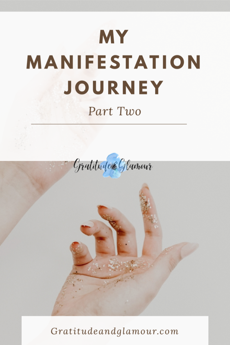the law of attraction and manifestation explained through a woman's hand with palm up and fingers beginning to extend